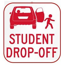 Student drop-off in the morning
