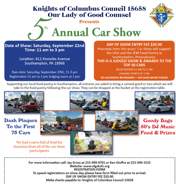 5th Annual Knights of Columbus Car Show