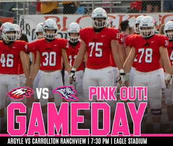 Eagles Host Carrollton Ranchview on PINK OUT Night