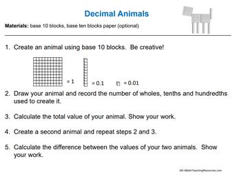 Decimal Animals