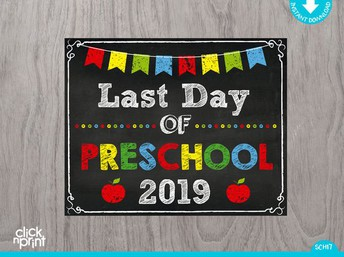 Last Day for ALL PRESCHOOL Programs will be on Wednesday, May 29!