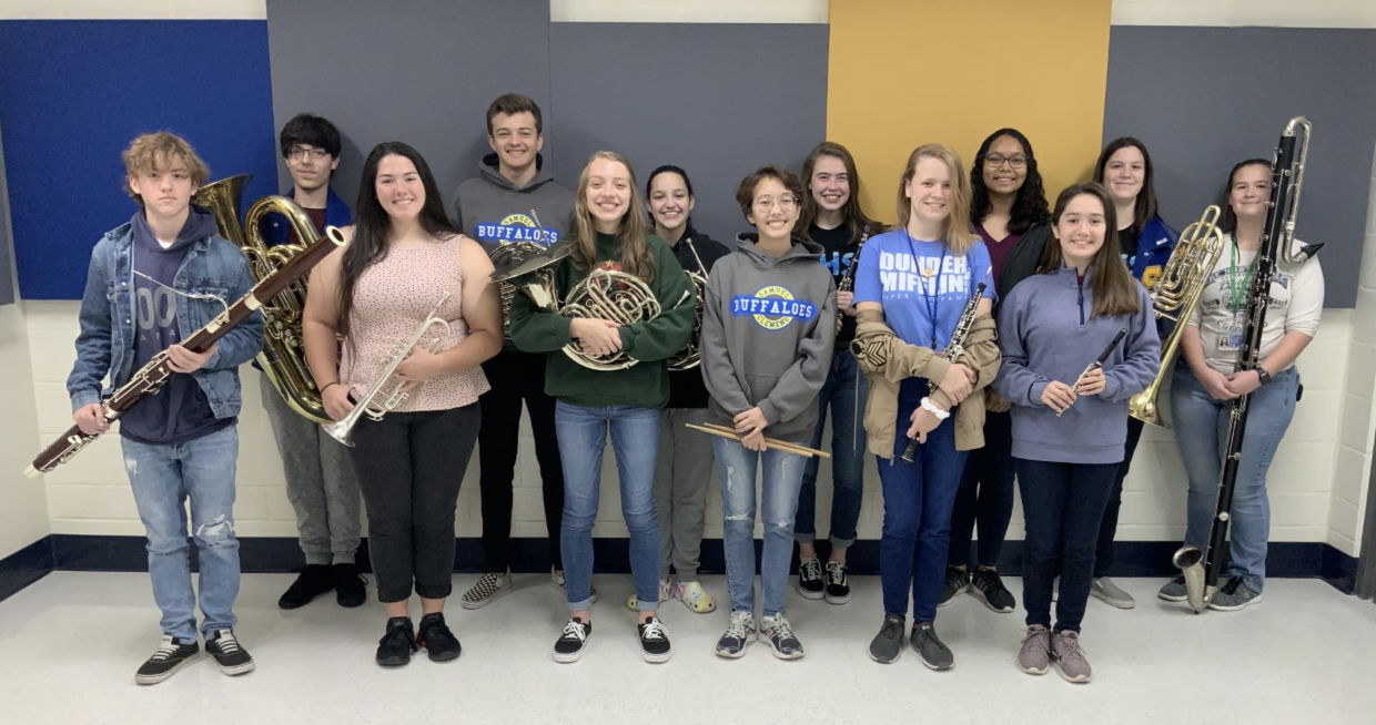 members of the mighty buffalo band selected for tmea band