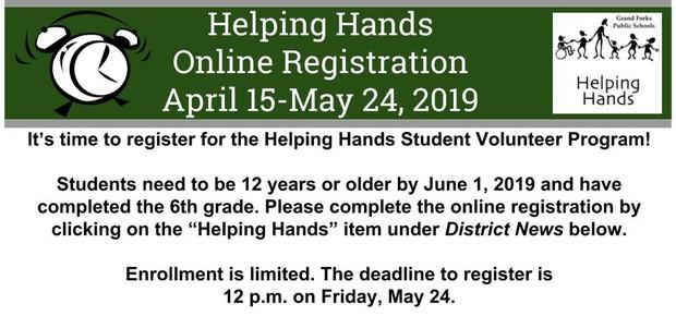 Helping Hands Registration