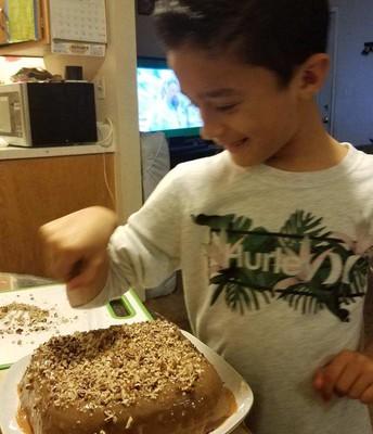 Cake time! Yummy!