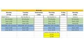 Fourt Grade ISTEP Schedule