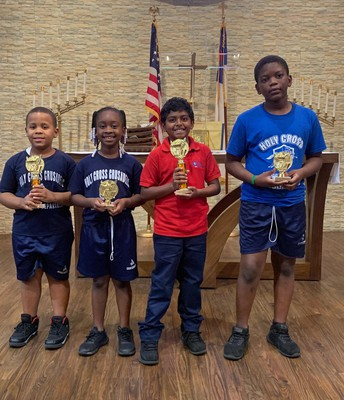 Winners from 1st and 3rd grade, Poetry Contest
