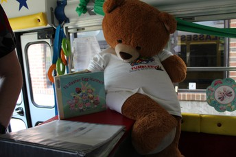 Teddy Admiring One of his Favorite April Books!