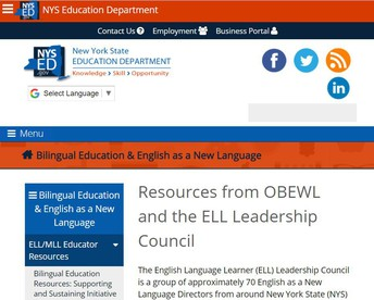 Resources from OBEWL and the ELL Leadership Council