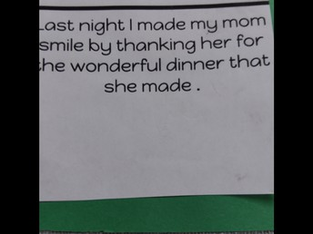 When mom's happy. . . .
