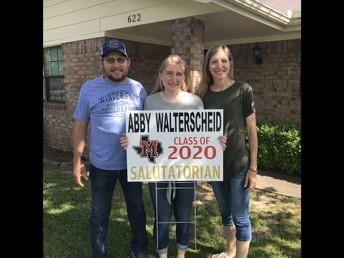 -- Abby Walterscheid  --   MHS 2020 Salutatorian