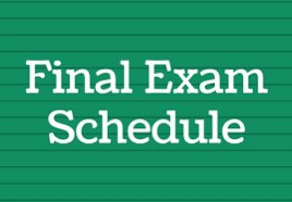 May 2021 Final Exam Schedule