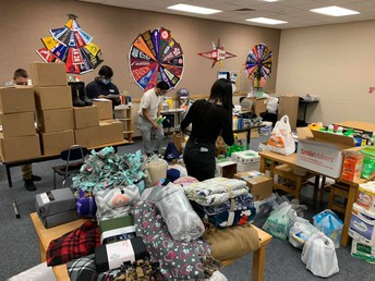 Caldwell students, local groups fill holiday boxes for families