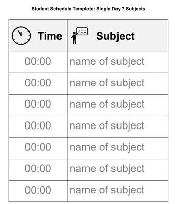 Student Schedule/ Horario de estudiante