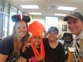 Hat Day in the Main Office!