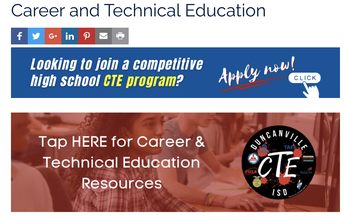 High School CTE Programs with Applications