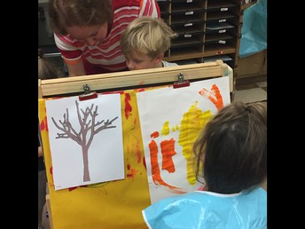 Students paint their own trees!