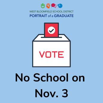 No School - November 3