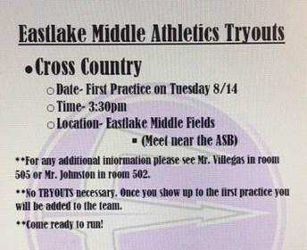 Cross Country Try-outs