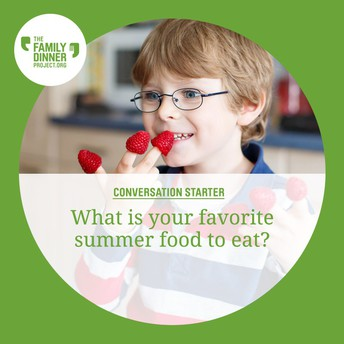 Example conversation starter: What is your favorite summer food to eat?