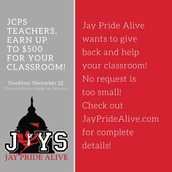 Jay Pride Alive - grants available!