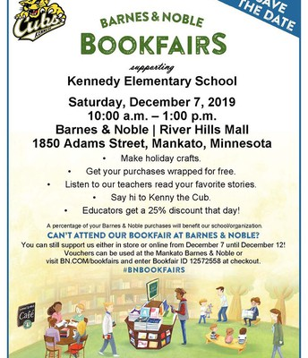 Kennedy Barnes and Noble Bookfair Event - 12/7