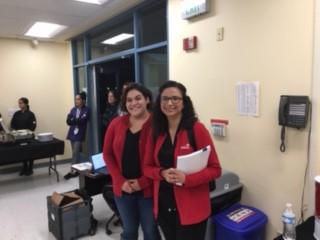 Ms. Mauro Floristry Class Teacher and Mrs. Hernandez, Skills USA Teacher
