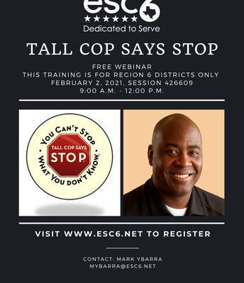 Tall Cop Says Stop