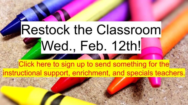 Restock the Classroom Sign Up