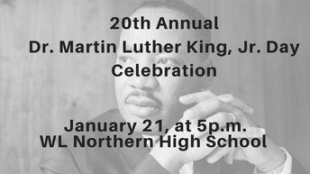 You Are Invited to the Walled Lake Schools Community-Wide Dr. Martin Luther King, Jr. Day Celebration, Monday, January 21, 2019