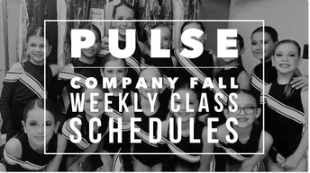 UPDATED!!! PULSE WEEKLY CLASS SCHEDULES