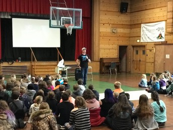 Brian, also known as the Kindness Ninja provided an entertaining and inspirational experience for students and staff