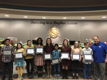 SMS Student of the Month recipients
