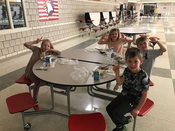 Child Care Kiddos enjoying lunch