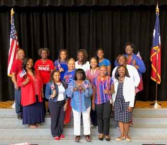 RHE Staff in patriotic attire