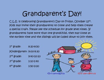 Grandparent's Day at CLE