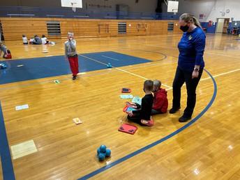 First grade exploring robotics