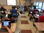 Miss D'Agostino's Algebra Class used Nearpod to solve problems
