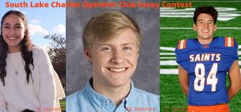 Husein, Aleshire, Drost Earn Optimist Club Essay Accolades