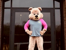 Toby the Bear standing in front of TRC