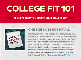 College Fit 101