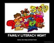 FAMILY LITERACY NIGHT- Nov. 8