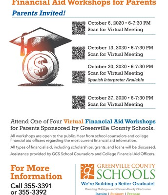 GCS Financial Aid Workshops