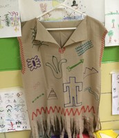 Mrs. Finley's 1st Grade Class Creating Native American Vests