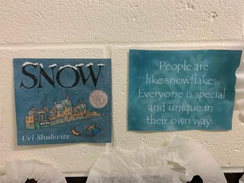 Picture of book and People are like snowflakes.  Everyone is special and unique in their own way.