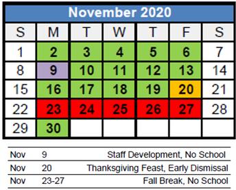 Calendar & Lunch Menus