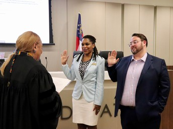 Welcome to the School Board James Herndon and Congratulations to Tasha White on Her Second Term