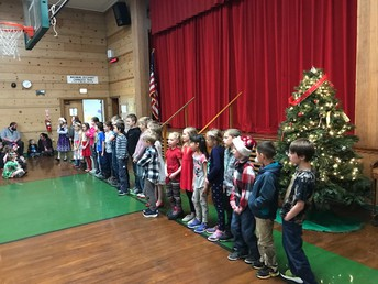 Third graders singing for us!