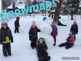 Kinder Fun in the Snow!