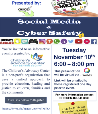 Social Media and Cyber Safety
