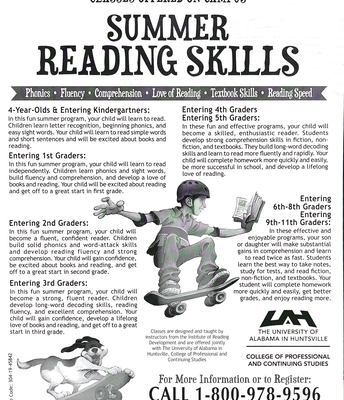 UAH Summer Reading Program Info